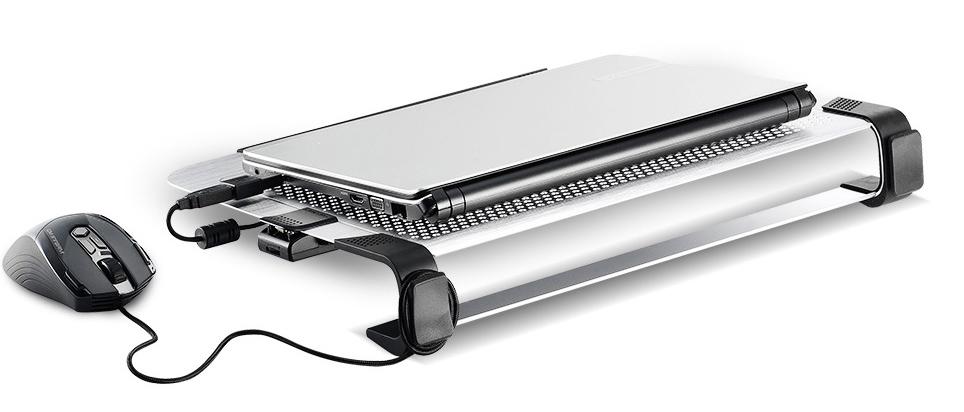 Cooler Master NotePal U3 Plus Movable Fan Aluminum Cooling Pad Black